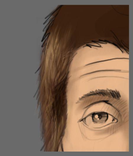 Рисуем лицо в фотошопе 9