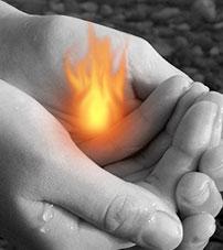 Как нарисовать огонь в фотошопе 5