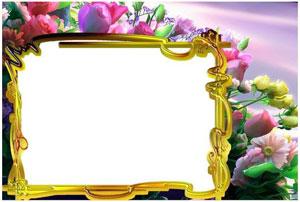 Рамка для фотографии - букет цветов 1