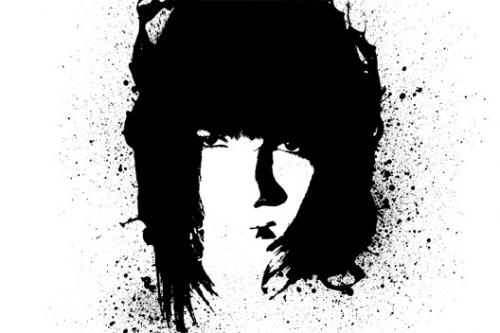 Портрет в стиле grunge (гранж) 8