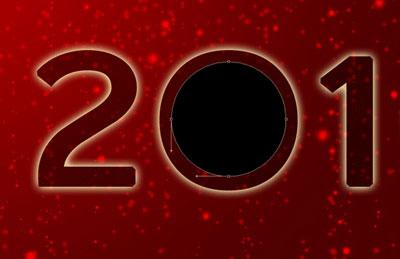 Новогодние обои 2010 в photoshop 21