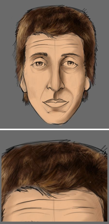 Рисуем лицо в фотошопе 10