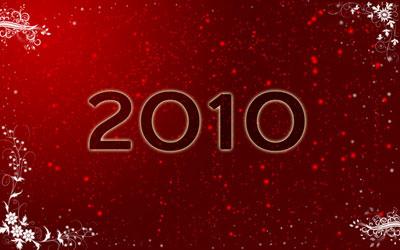 Новогодние обои 2010 в photoshop 19