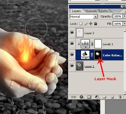 Как нарисовать огонь в фотошопе 8
