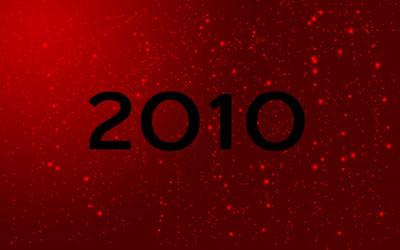 Новогодние обои 2010 в photoshop 13