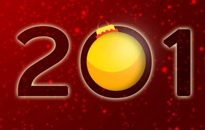 Новогодние обои 2010 в photoshop 32