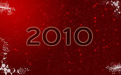 Новогодние обои 2010 в photoshop 17