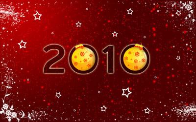 Новогодние обои 2010 в photoshop 1
