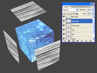 3d куб из льда 6