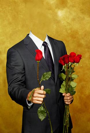 Шаблон для фото - Мужчина с цветами 1