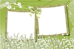 Рамка для фотографии - Цветы и природа 1