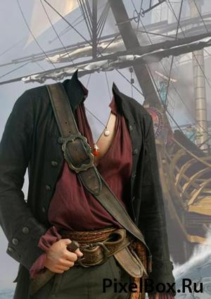 Рамка для фотографии - морской пират 1