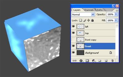 3d куб из льда 5