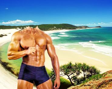 Шаблон для фото - Пляж 1