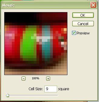 Красивый эффект мозаики в фотошопе 4