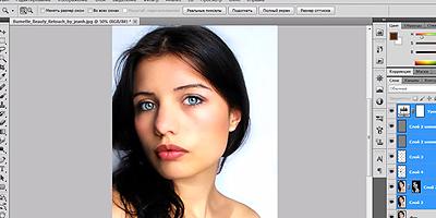 Видеоурок - Ретушь женского портрета в Фотошопе