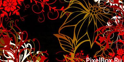 Кисти для фотошопа цветочные узоры и лепестки
