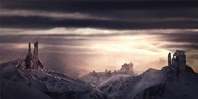 Создаем в фотошоп фантастический пейзаж с руинами