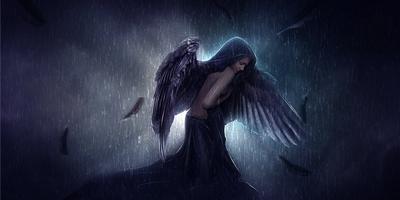 Создание в фотошоп эмоциональной фотоманипуляции с грустным ангелом