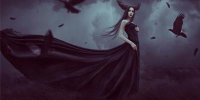 Создаем в фотошоп готическую фотоманиляцию с воронами