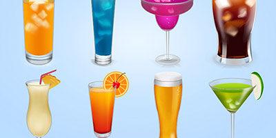 Иконки в виде напитков
