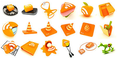Креативные иконки RSS