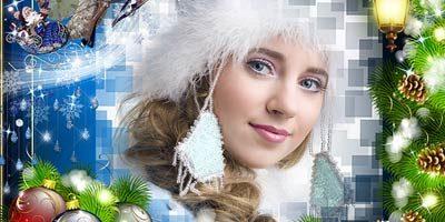 Рамка для фотошопа - Новый Год, Рождество.