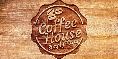 Логотип на деревянной текстуре