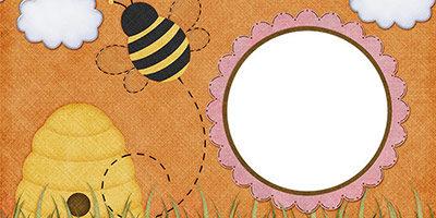 Рамка с пчелкой