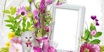Рамка для детей - С котенком