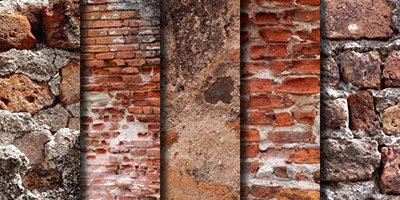 5 фото старых кирпичных стен