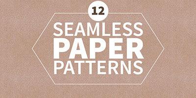 12 бесшовных бумажных паттернов
