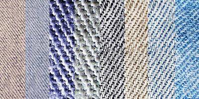 8 текстур джинсовой ткани
