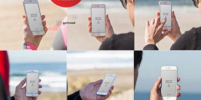 25 mock-up исходников с iphone