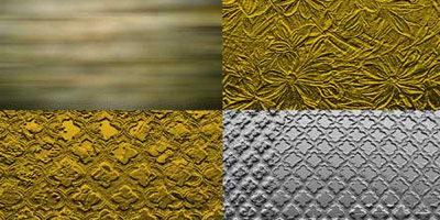 Текстуры из золота и серебра