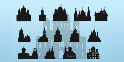 15 фигур церквей для фотошопа