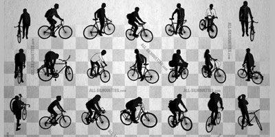 28 фигур велосипедистов для фотошопа