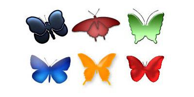 Фигуры - Бабочки