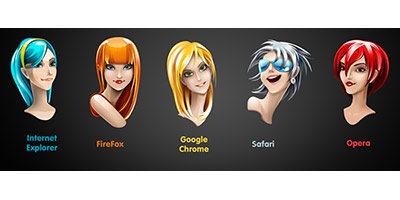 Милейшие иконки браузеров