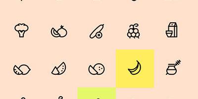 Иконки разной еды