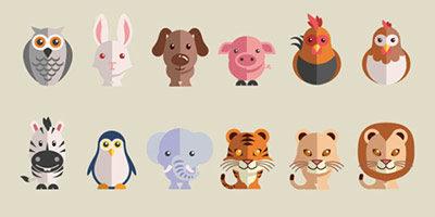 Векторные иконки животных