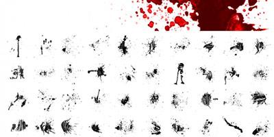 Кисти кровавые брызги