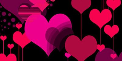 Кисти - 20 фигур сердец