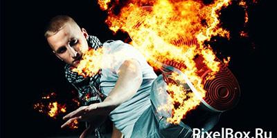 Кисти для фотошопа - взрывы, огонь