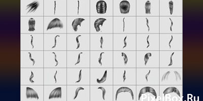 19 кистей для фотошопа в виде волос