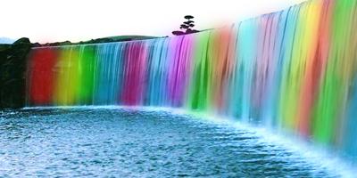 Как нарисовать радугу на воде