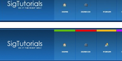 Горизонтальное меню для сайта