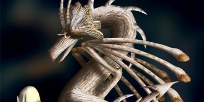 Создаем в фотошоп фантазийного дракона из дерева