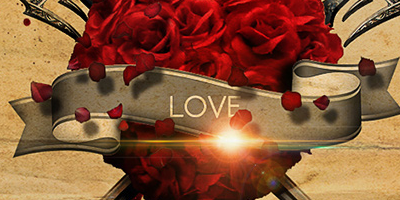 Сердечко из роз