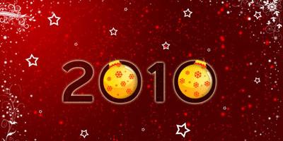 Новогодние обои 2010 в photoshop